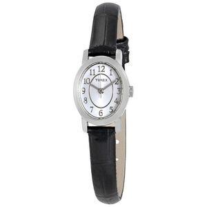 Timex TW2P60400 Cavatina Women Black Leather Band